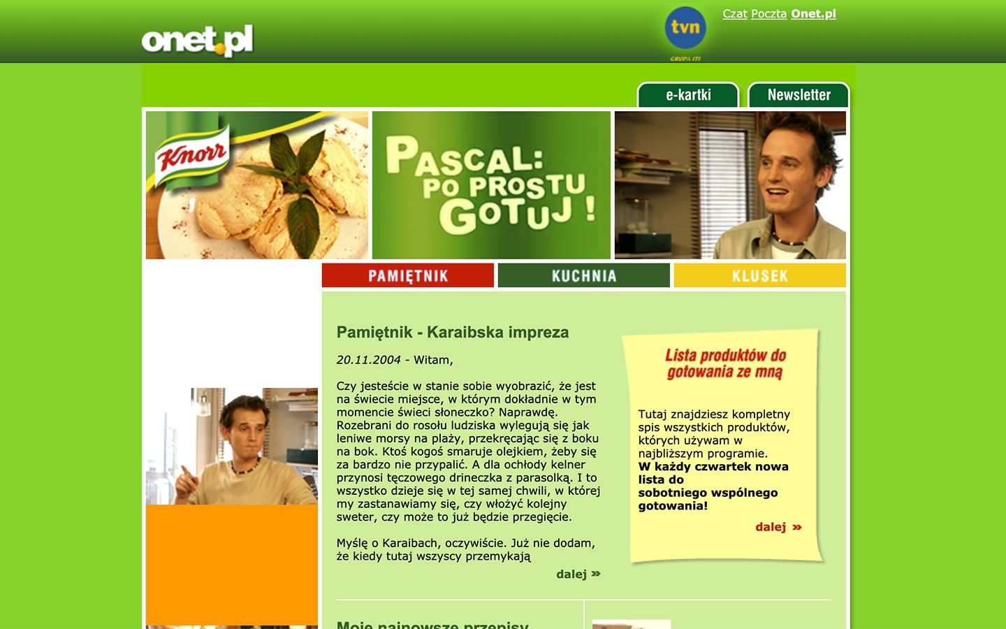 Pascal: Po Prostu Gotuj! | poprostugotuj.onet.pl | 2004 (Screen Only 01) © echonet communication