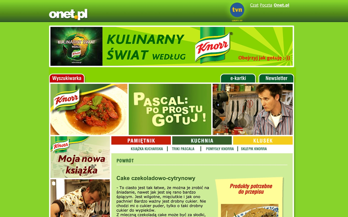 Pascal: Po Prostu Gotuj! | poprostugotuj.onet.pl | 2004 (Screen Only 04) © echonet communication
